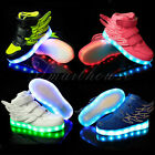 Child Kid LED Light Lace Up Luminous Sportswear Sneaker Luminous Casual Shoes