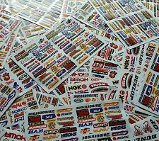 9 Mixed Sheets Random Stickers Motorcycle Car ATV Racing Dirt Bike Helmet Decal