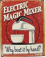 Electric Magic Mixer metal sign   400mm x 320mm   (de)