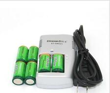 Etinesan 6 PCS 1350mAh 3v CR123A rechargeable  lithium battery wit charger