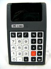 Rare 70´s vintage calculator Taschenrechner ELITE S 2003 + case   working