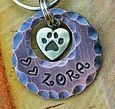 Dog Tag Cat Pet ID Tags -personalized handmade Custom Pet Tags Dog Tags Heart