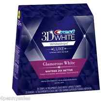 CREST 3D Luxe Glamorous White Whitestrips Teeth Whitening Strips Dental Whitener