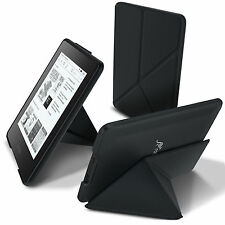roocase Origami Folio PU Leather Case Cover Stand for Kindle Paperwhite, Black