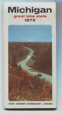 Vintage 1973 Michigan Official Highway Road Map Nice and  Clean!
