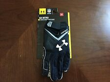 Under Armour Nitro Football Glove For Skill Players Black/White Size Small