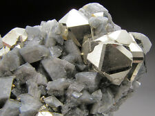 Pyrite and Calcite Crystals, Chivor Mine, Colombia