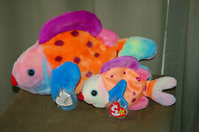 LIPS the Colorful FISH - Ty  Beanie Baby and Buddy   -  Sealife - MWMT