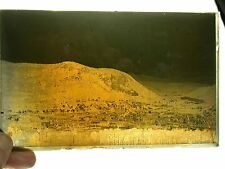 Antique Glass Plate Photo Negative Unknown City In Mountains