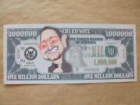 1  X   BONO   NOVELTY  $1 MILLION  DOLLAR  NOTE.