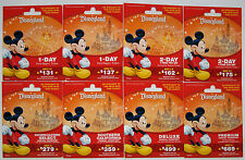 8 Different DISNEYLAND Passport Mickey Mouse Gift Cards 2013 Mint  No Cash Value