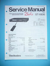 Service-Manual per Technics st-x830, ORIGINALE