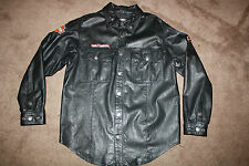 HARLEY DAVIDSON LEATHER SHIRT JACKET M CUSTOM PATCHES HOT DEAL!