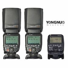 Yongnuo YN-E3-RT Transmitter + 2 x YN600EX-RT II Speedlite TTL Flash Fr Canon UK