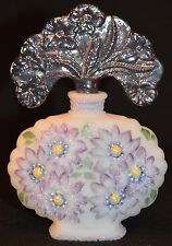 Fenton Violet Asters Perfume Bottle w/ Stopper New Century Collection XXI