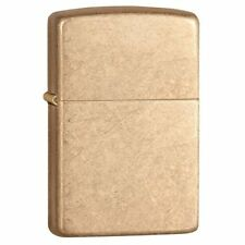 "Zippo ""Armor"" Tumbled Brass Finish Lighter, ***Flints & Wick***   28496"