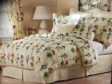 Westgate King Size Floral Yellow Striped 4 Piece Matching Comforter Set