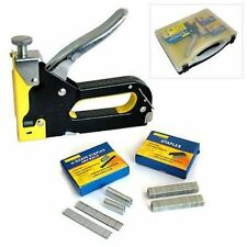 HEAVY DUTY 3 IN 1 STAPLE GUN HAND UPHOLSTERY 600PC STAPLES STAPLER CABLE DIY UK