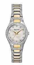 Bulova Women's 98L198 Swarvoski Crystals Quartz Two Tone Dress WAtch