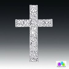 Pack 10x Diamante Cake Craft Card Decoration Cross Crucifix First Holy Communion
