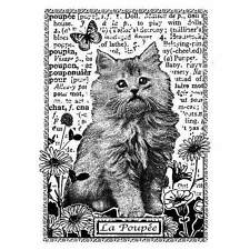 Crafty Individuals KITTEN AMONGST THE FLOWERS Rubber Stamp