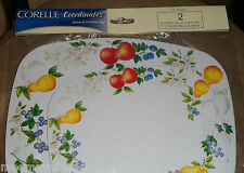 Set 2 New Corelle Chutney Fruit Stove Top COUNTER Top Table MAT HOT PAD TRIVETS