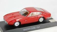 MASERATI GHIBLI 1967 MAS07 1:43 GRANI NEW MODEL CAR RED