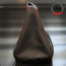 BMW E46 1998-2005 M3 SPORT RED STITCH BLACK LEATHER GEAR STICK KNOB COVER GAITER