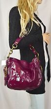 NWT COACH LEATHERWORKS Zoe Liquid Patent Leather Shoulder Bag  Berry