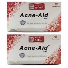 2x100g ACNE AID DEEP PORE STIEFEL BAR CLEANSING PIMPLE OILY SKIN FACE AID SOAP