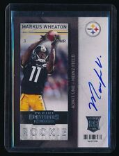 MARKUS WHEATON 2013 PANINI CONTENDERS ROOKIE #224A RC AUTO PITTSBURGH STEELERS