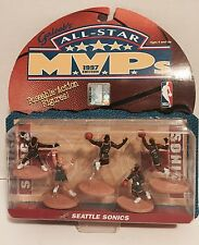 1997 ALL STAR MVP'S EDITION SEATTLE SUPER SONICS NBA POSEABLE ACTION FIGURES