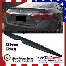 PAINTED SILVER TOYOTA ALTIS Corolla Sedan 4D Trunk Spoiler Wing 2016 NEW ABS