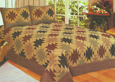 SOUTHWEST LODGE ** King ** QUILT SET : RED PLAID CABIN SOUTHWESTERN COMFORTER