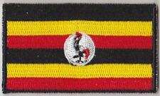 Uganda Country Flag Embroidered Patch T4