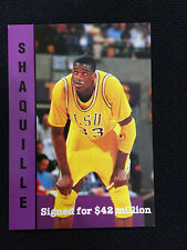"SHAQUILLE O'NEAL RC ODD BALL 1992 LSU ""SIGNED FOR $42 MILLION"" BASKETBALL CARD"