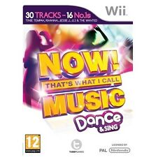 NOW THATS WHAT I CALL MUSIC DANCE AND SING=NINTENDO Wii=MICROPHONE COMPATIBLE=U