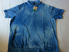 RARE RALPH LAUREN POLO SHIRT HAWAIIAN BEACH ROYAL BLUE SHORT 4XB BIG 4XL XXXXL