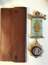 Sterling Silver R.A.O.B Masonic Medal Roll of Honour 1964
