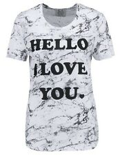 Zoe Karssen T Shirt Hello I Love You Size XS,  L NEW £80
