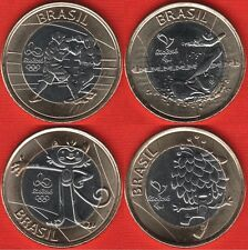 "Brazil set of 4 coins (4th; #4): 1 real 2016 ""Rio Olympics 2016"" BiM. UNC"