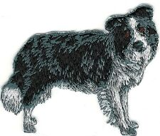 "2 1/2"" x 3 1/4"" Border Collie Full Body Dog Breed Embroidery Patch"