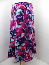 "Laura Ashley lined skirt Size 12 UK 38 EUR 40 FR  Waist 31"" pink red purple"