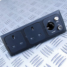 TWIN 13A + 12V AERIAL & SAT SOCKET KIT for C-LINE CBE MOTORHOME CARAVAN BOAT
