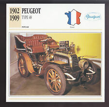 1902-1909 Peugeot Type 48 France Car Photo Spec Sheet Info ATLAS CARD