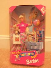 ~New in Box RARE Toys R Us BARBIE Doll SHOPPER DOLL w/ Cart and Bag~Nice Gift !+