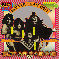 Kiss Guitar Tab HOTTER THAN HELL Lessons on Disc
