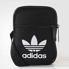 Adidas Mini hombro bolso estilo mensajero pequeño (negro) 100% Genuino!!!