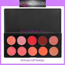 NEW Crown Brush 10-Color LIPSTICK Palette FREE SHIPPING Lip Stick Gloss BNIB