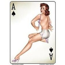 Michael Landefeld Retro Ace Spades Pinup PIN-UP Sexy Hot Nude Girl STICKER 3.5x5